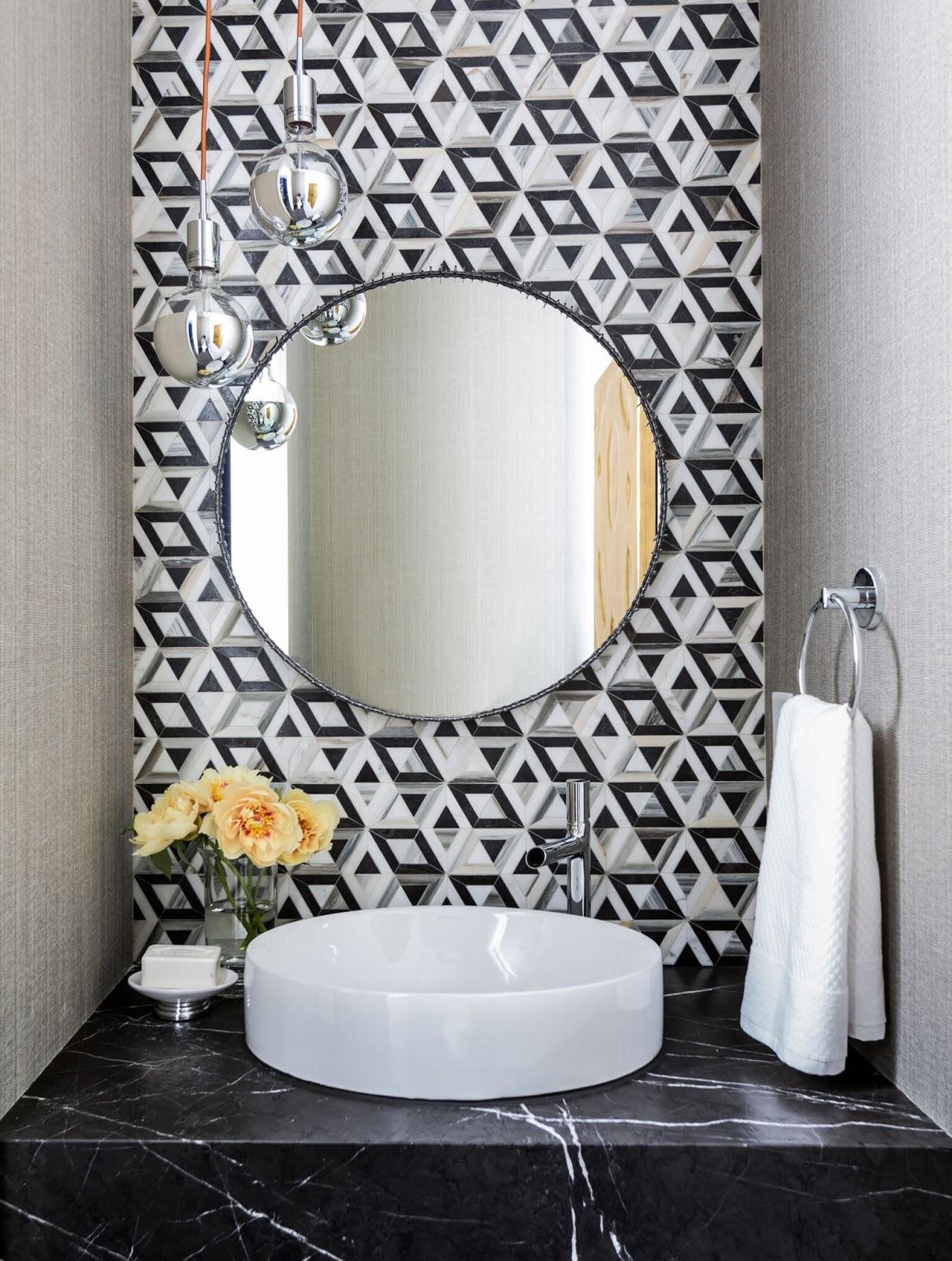 city living ann sacks geometric tile backsplash in modern powder rh pinterest com
