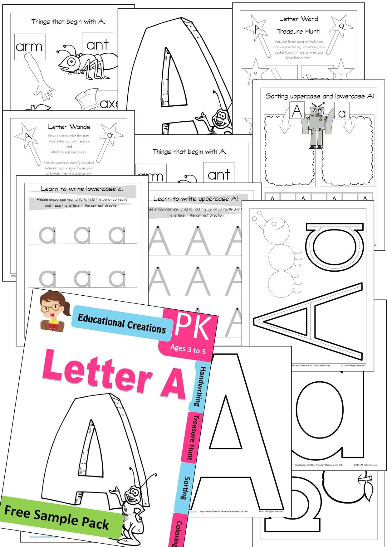 FREE SAMPLE PACK courtesy of EDUCATIONAL CREATIONS! 12 Print and ...