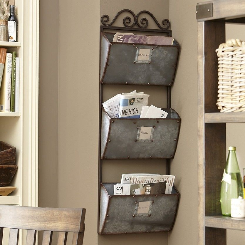 Home Office Wall Organizer vintage metal wall organizer mail sorter letter rack key desk