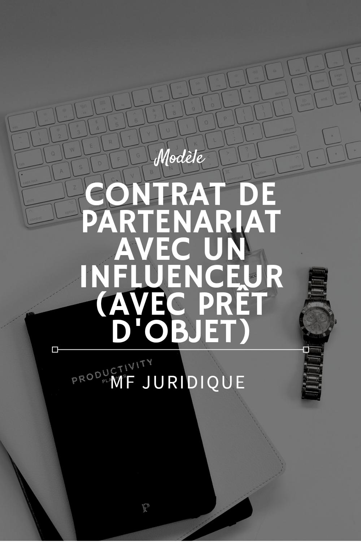 Modèle : Contrat de partenariat avec un influenceur web ...