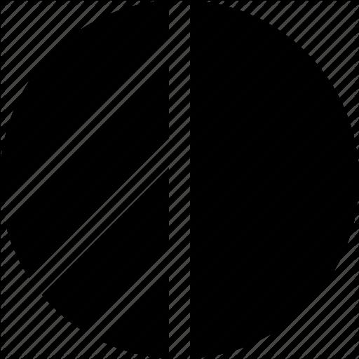 Circle Geometric Half Highlight Shape Icon Download On Iconfinder Icon Geometric Summer Icon