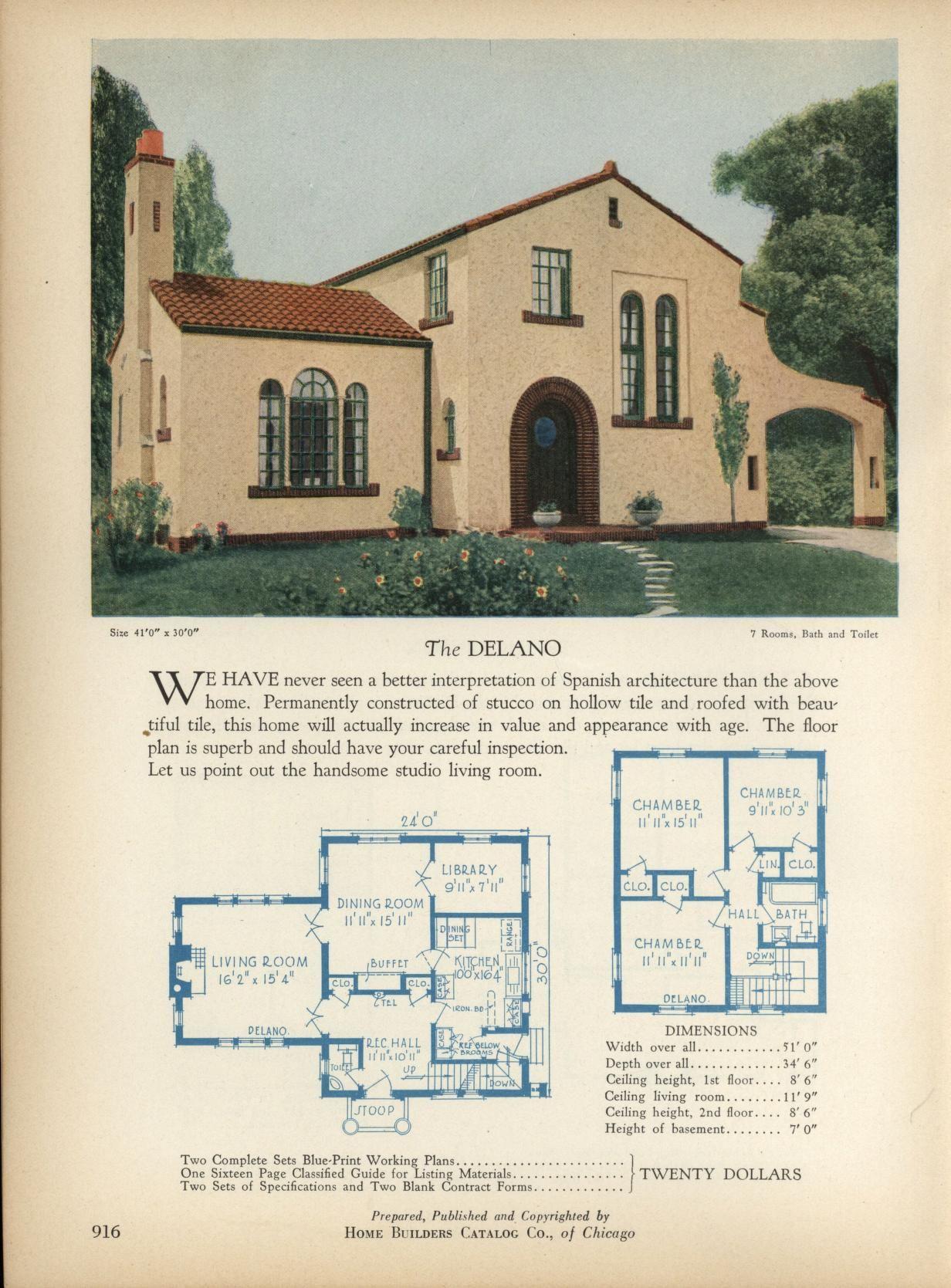The DELANO Home Builders Catalog plans