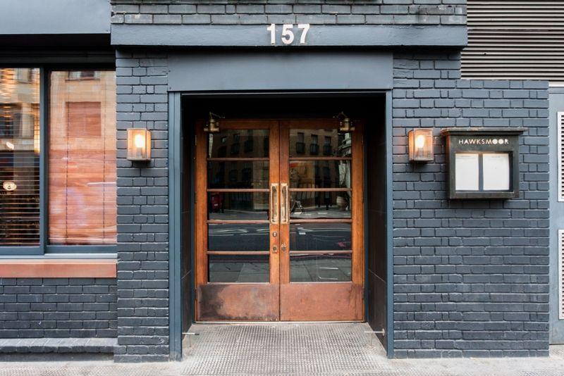 hawksmoore spitalfields dark grey blue painted brick. Black Bedroom Furniture Sets. Home Design Ideas