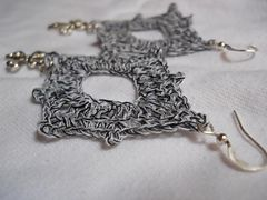 Ravelry: Diamond Earring #1 pattern by Moira Durano-Abesmo
