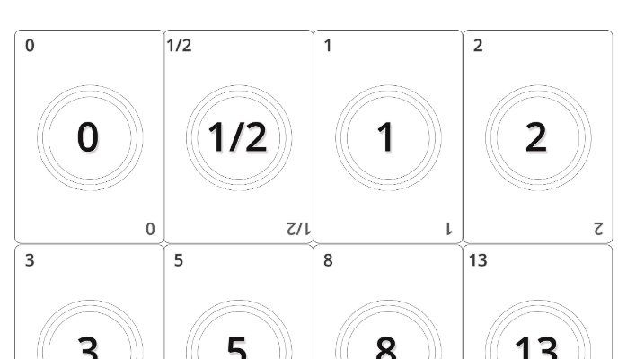 Print Friendly Planning Poker Card Planning Poker Card With Regard To Printable Planning Poker Cards Template In 2021 Planning Poker Card Template Poker Cards