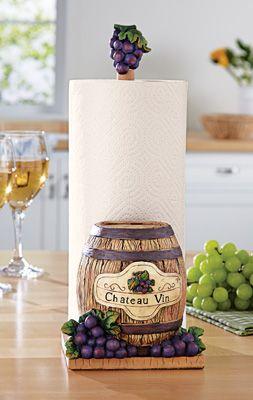 vineyard kitchen paper towel holder kitchen decorations grape rh pinterest com