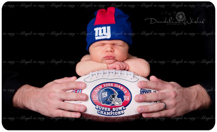 Unique photo of newborn baby on new york giants football professional photographers in northern virginia near bristow va baby photos pinterest
