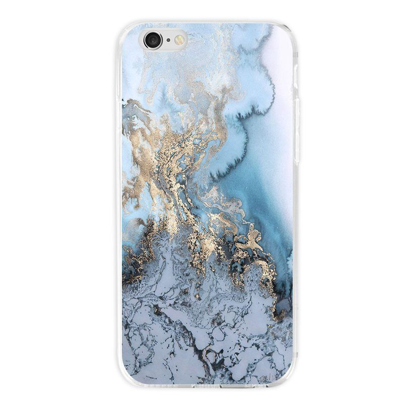Samsung Galaxy S7 Edge Fall Wallpaper Details About Blue Marble Stone Pattern Phone Case
