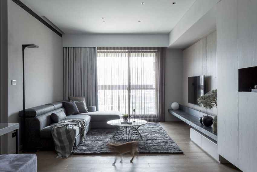 Taipei Base Design Center Completes A Home Renovation In Taipei Taiwan Contemporary Apartment Apartment Design Home