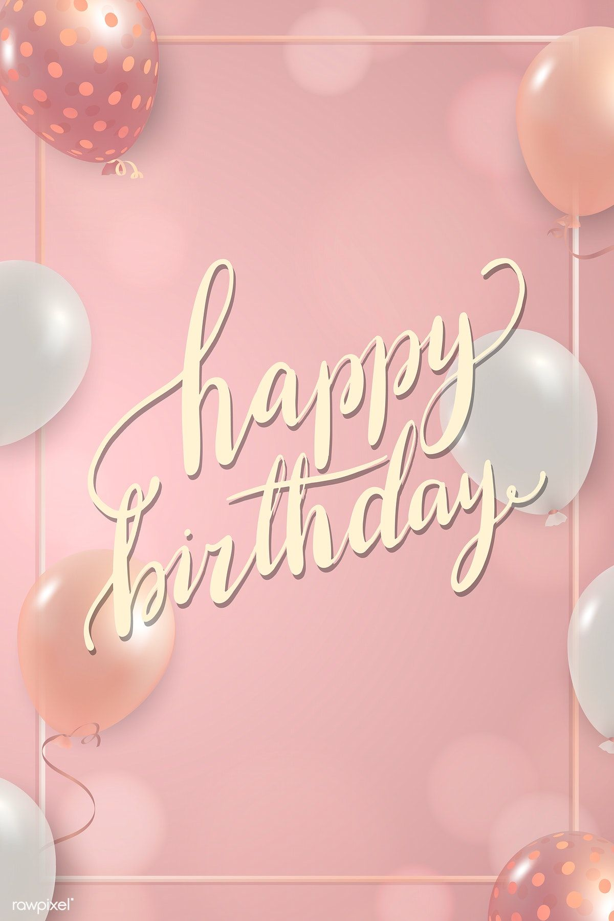 Birthday Sign With Balloons Frame Design Vector Free Image By