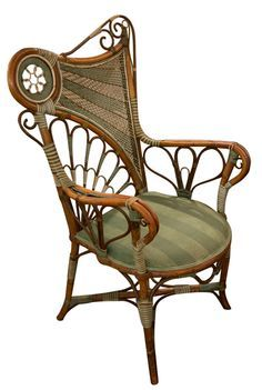 Art Nouveau Chair   The Use Of Olive Tones And Curved Lines Is  Characteristic Of Art Nouveau Design.