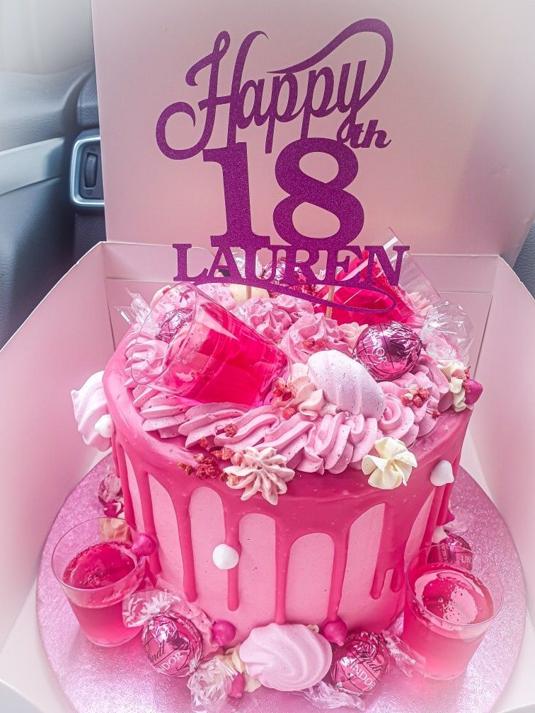 Pink Gin 18th Birthday Cake With Images Birthday Cake 18th