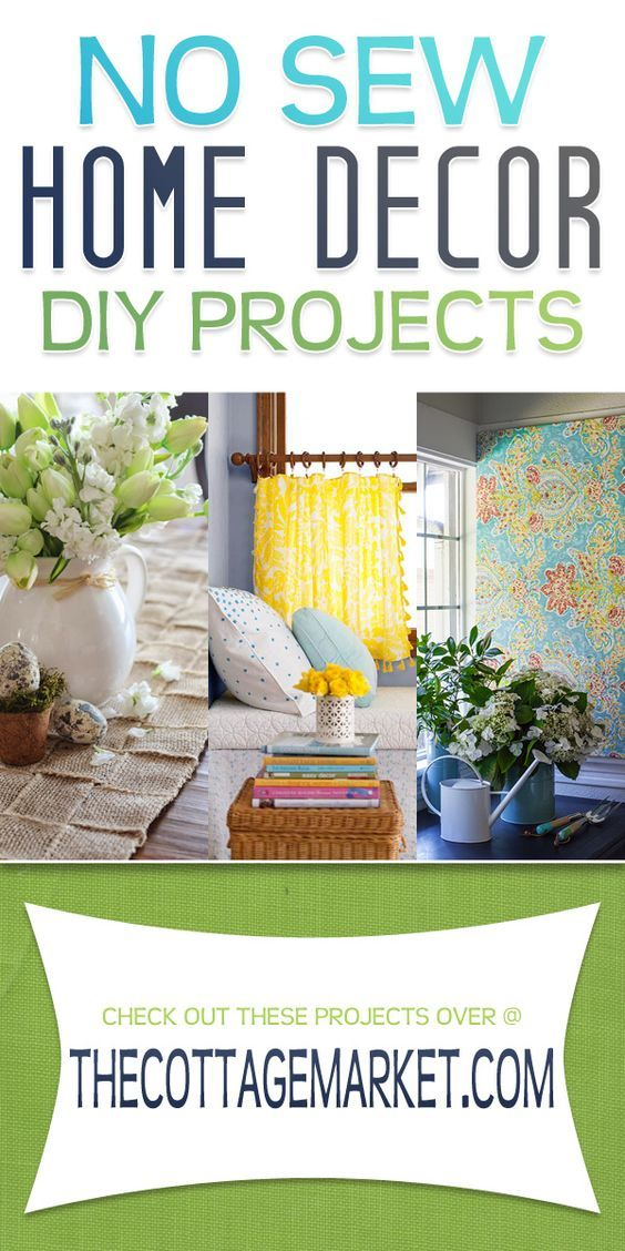 Sewing Ideas For Home Decorating Part - 41: No-Sew Home Decor DIY Projects