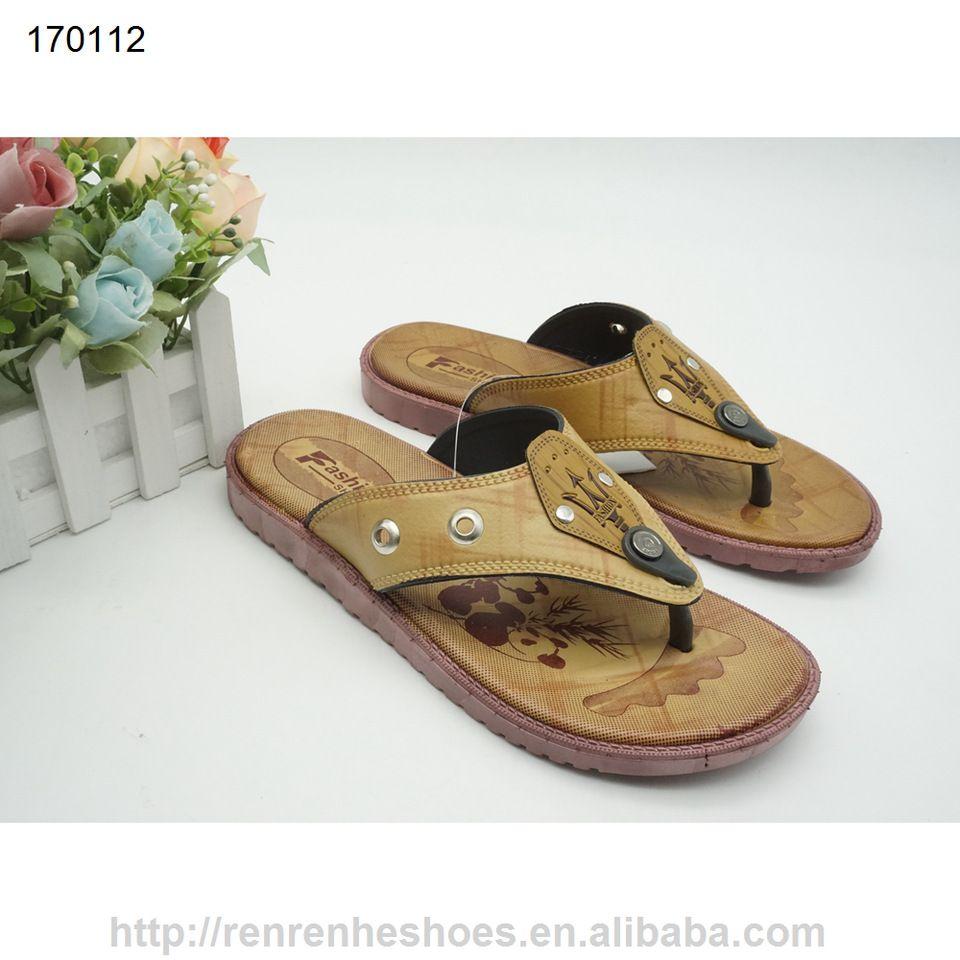 a9e54cf9f3bc 2017 pvc pcu flip flops for men made in China cheap plastic shoes ...