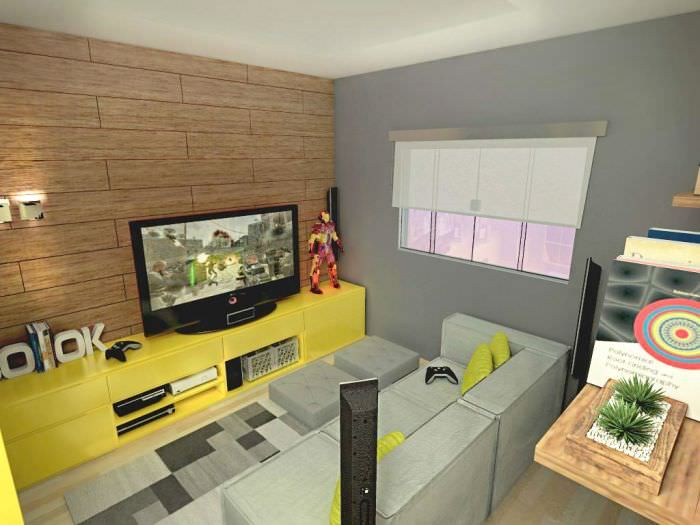 uma sala para jogar videogame int sala estar jantar video game rh pinterest com
