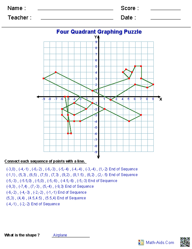 Math Aids ...Graphing Worksheets plus more | Math | Pinterest ...