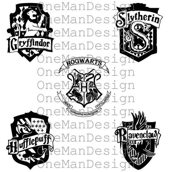 harry potter emblem set of 5 hogwarts houses gryffindor