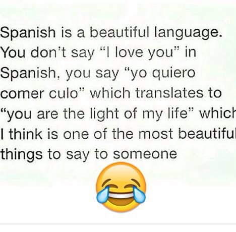Cute Spanish Quotes Good to know, working with so many Spanish speakers. | quotes  Cute Spanish Quotes