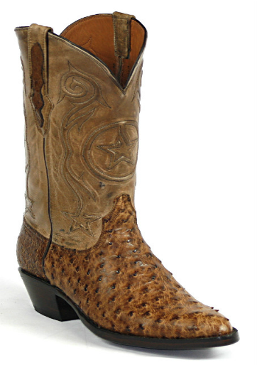 Full Quill Ostrich Leather Boots Style 963 Custom-Made by Black Jack Boots