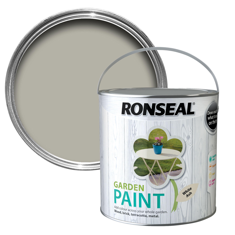 Ronseal chalky furniture paint ronseal - Ronseal Garden White Ash Matt Garden Paint 2 5l