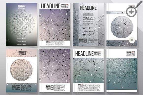 Scientific templates for brochures by VectorShop on Creative Market