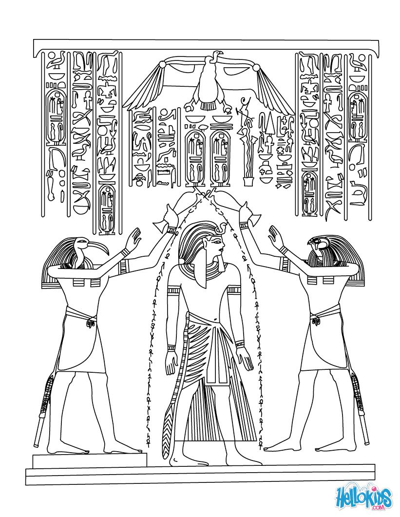 Click on the below best printable Egypt Coloring Pages to