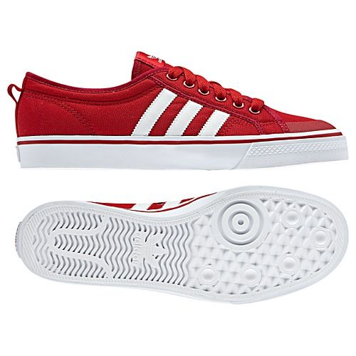 hot sale online 5d029 18846 adidas Nizza Low Shoes in RED