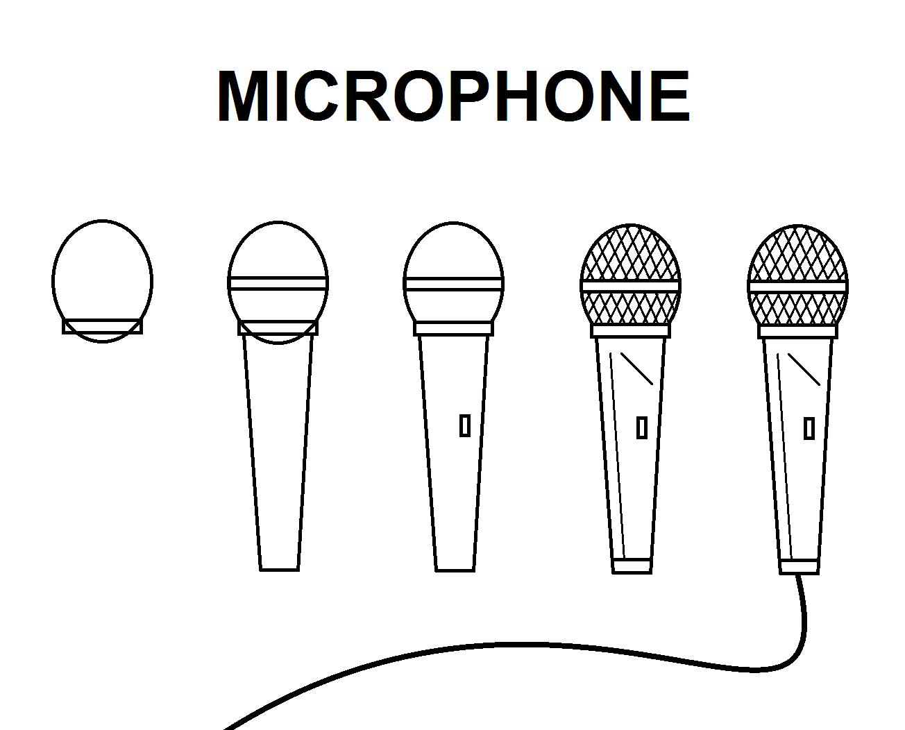 Microphone Microphone Drawing Easy Drawings Microphone