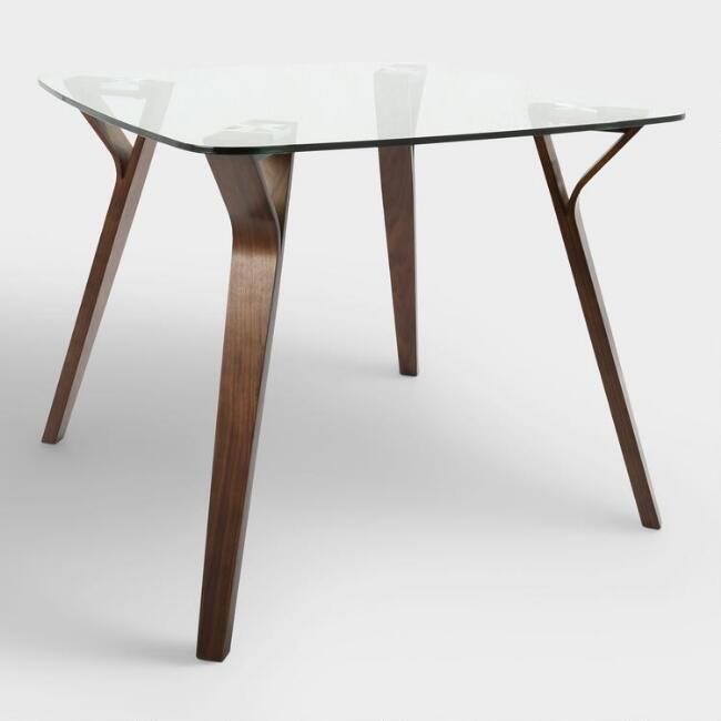 Glass And Wood Mid Century Joel Dining Table Mid Century Woods - Solid wood mid century dining table