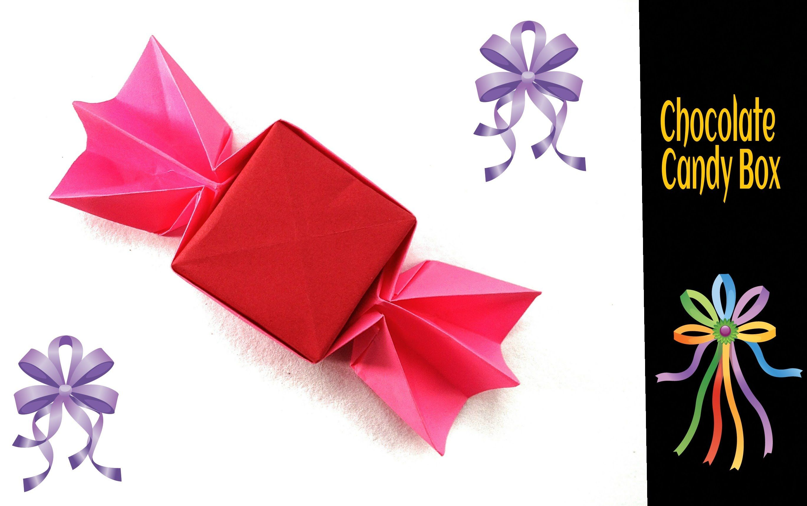 origami paper chocolate candy box paper folds