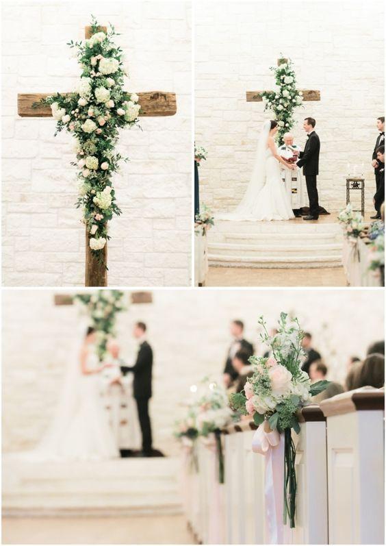 Christian wedding ideas 25 wedding christ centered cross details floral cross as ceremony centerpiece junglespirit Choice Image