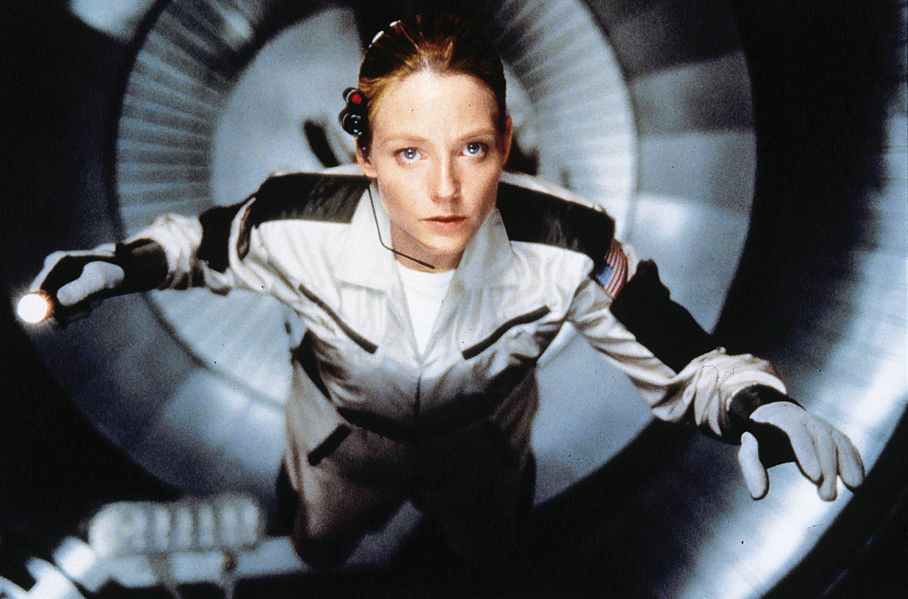 Contact Movie Still 1997 Jodie Foster As Dr Eleanor Ellie Arroway Contact Movie Jodie Foster Great Sci Fi Movies