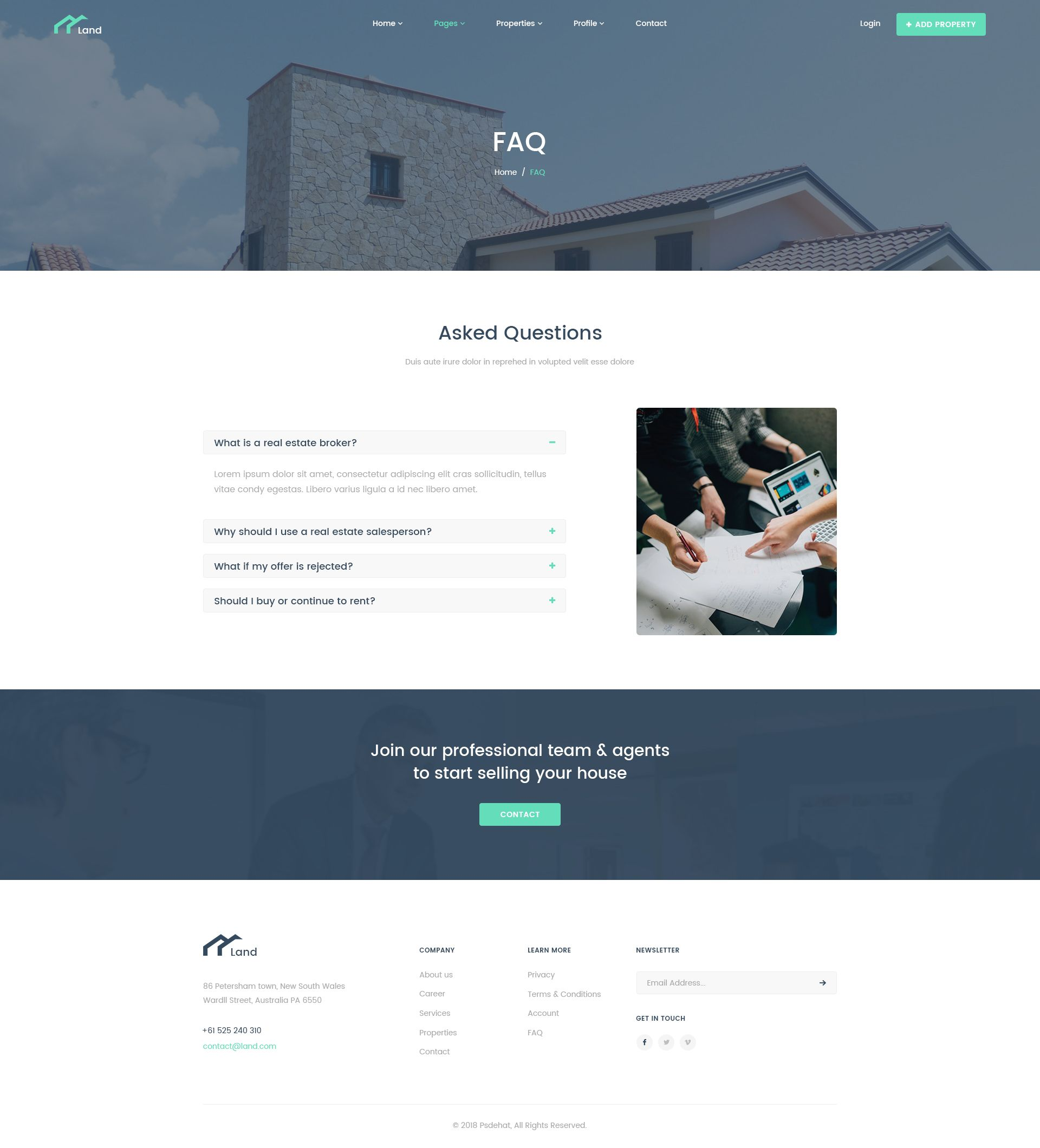 Land Real Estate Property Listing Psd Template Real Estate