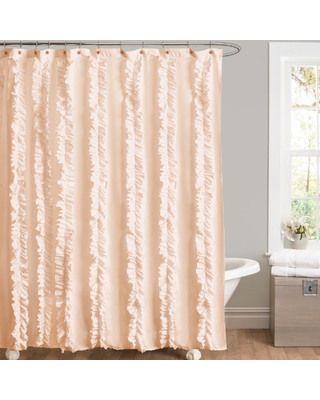 Bathroom Shower Design Ideas Ruffled CurtainsPeach