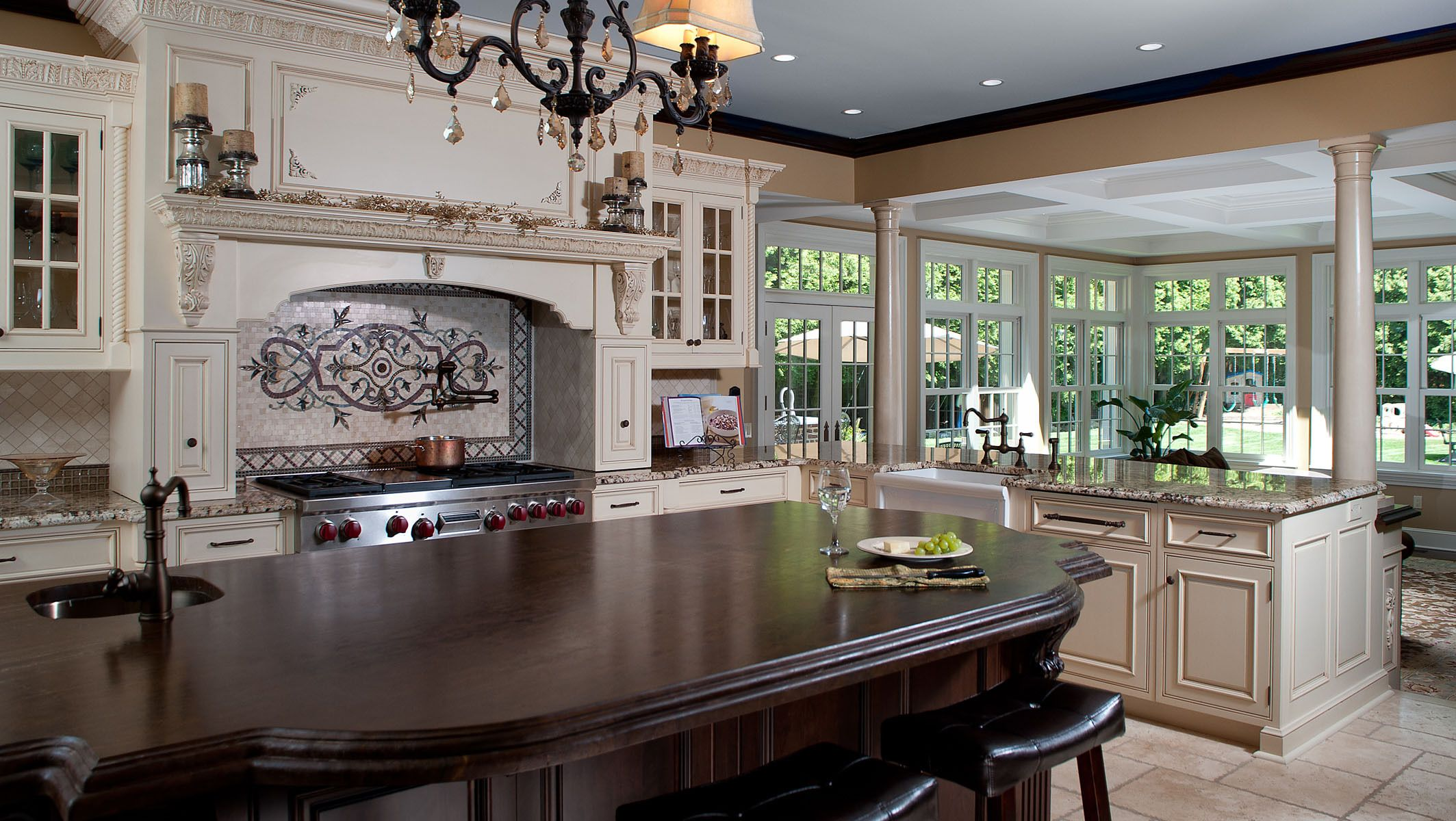 Sunroom Designs For A Colonial Home | Classic Scarsdale Brick Colonial