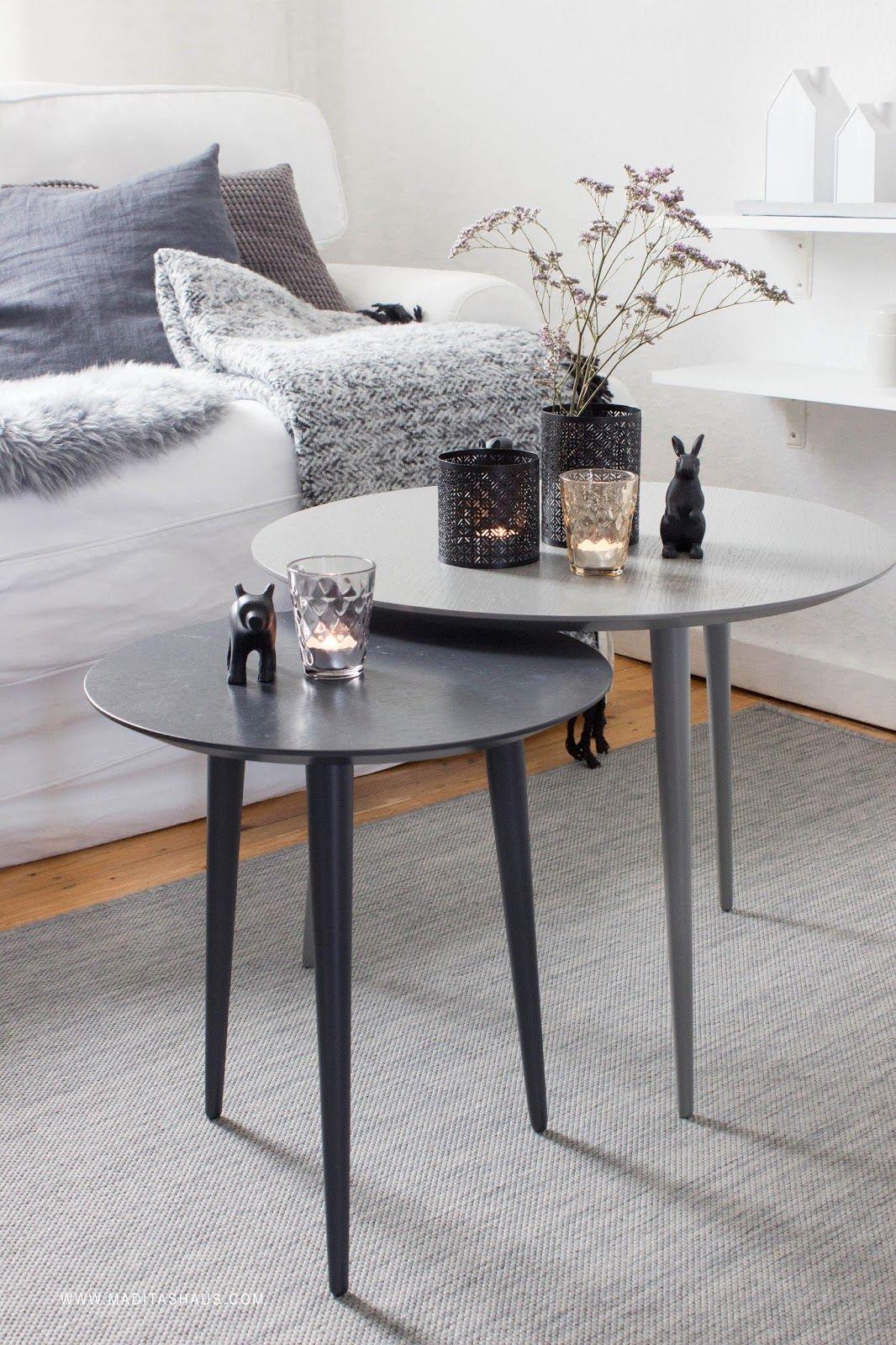 Two shades of grey allow a wide range of decoration ideas. #mycs #makeityours #furnituredesign  3 herbstliche Dekoideen für den Tisch | Maditas Haus | Lifestyle und Interior Blog