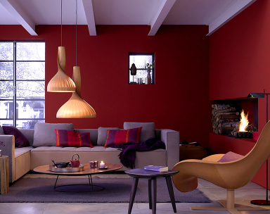 Trendfarbe Riviera Bild 13 Burgundy Living Room Lavender Living Rooms Burgundy Walls
