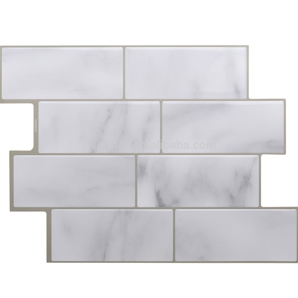 Subway Marble Tile Self Stick Vinyl