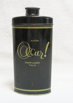Vintage Occur Talc Advertising Tin Tin Crazzzzy Vintage Avon