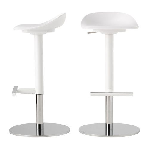 Ikea Janinge White Bar Stool Dining Room Furniture Ikea