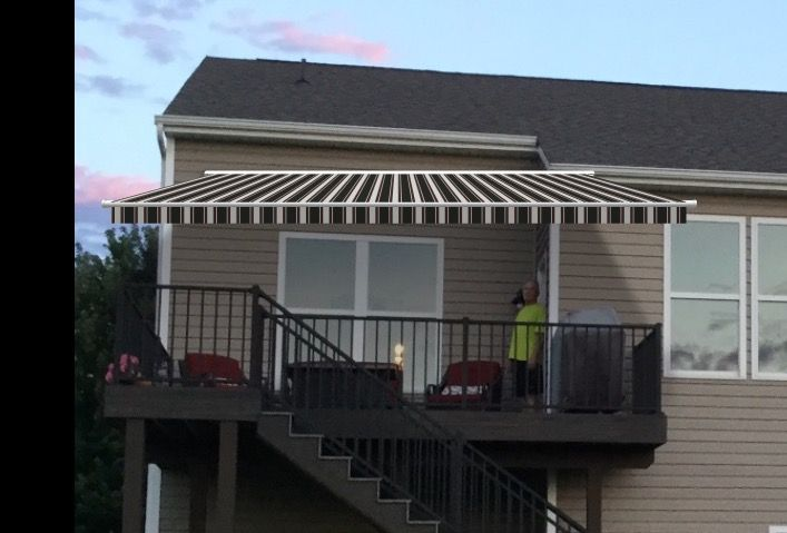 This is what a Solair awning looks like on my home ...