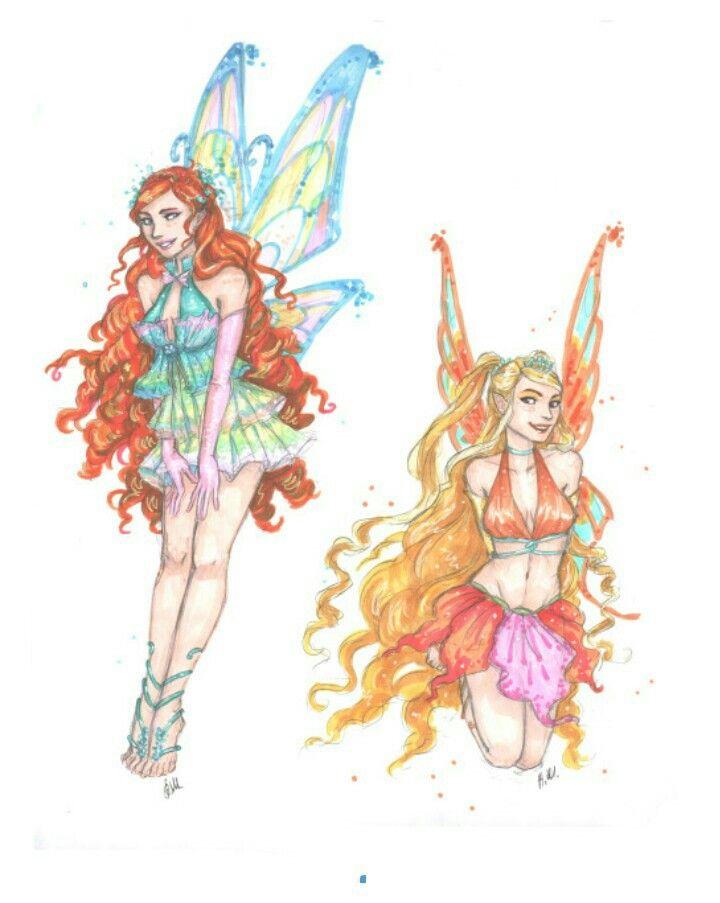 Bloom And Stella Desenhos De Princesas Desenhos Desenhos Legais