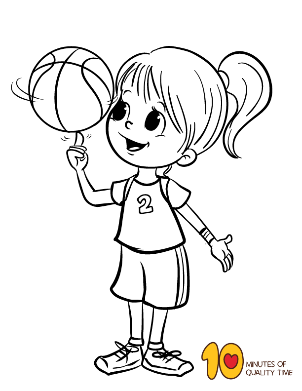 Basketball crafts and coloring pages | Basketball crafts ...