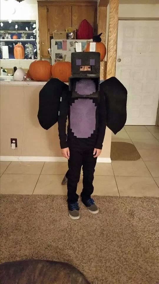 Dom's Halloween costume. The Ender Dragon from Minecraft ...