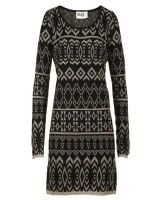 Alice By Temperley Womens Mini Lily Black & Gold Knitted Dress