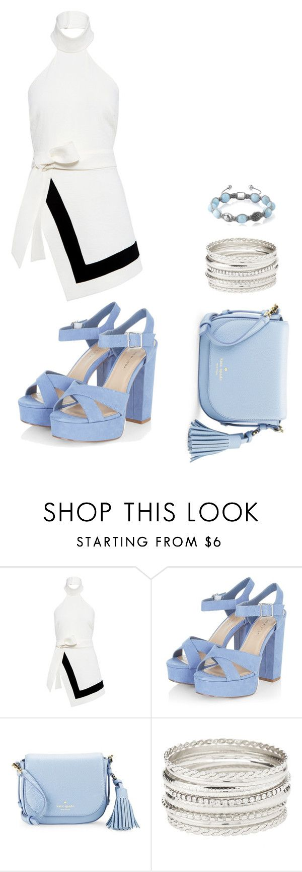 """""""Cute in baby blue"""" by mavi-carrasquilla on Polyvore featuring Finders Keepers, Kate Spade, Charlotte Russe and Shamballa Jewels"""