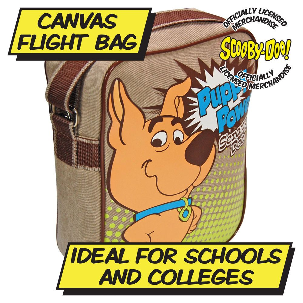 SCRAPPY DOO FLIGHT BAG - Cartoon Classic 80s Scooby Doo Kids - PUPPY POWER in Clothes, Shoes & Accessories, Men's Accessories, Bags | eBay