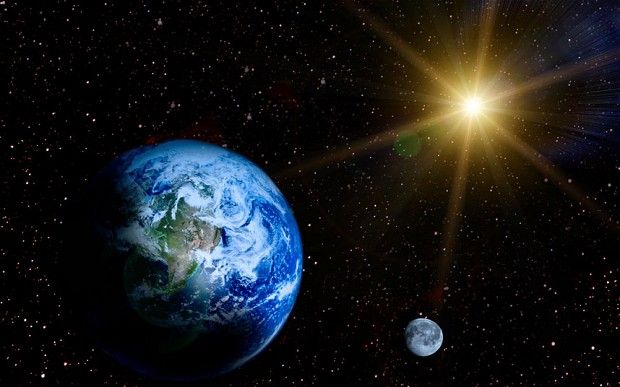 Image result for sun moon space