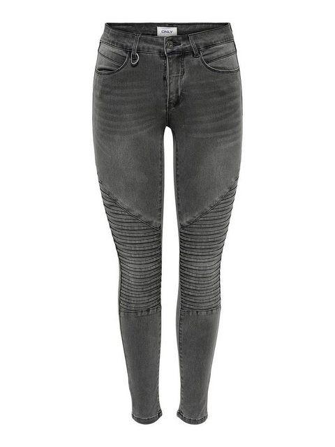 ONLRoyal Reg Biker Ankle Skinny Fit Jeans