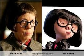 Edna Mode Off The Incredibles Was Based On The Famous Costume Designer In Paramount Named Edith Head Edna Fashion Fashion Design